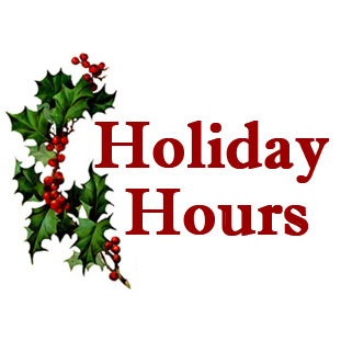 Special Holiday Hours 2012